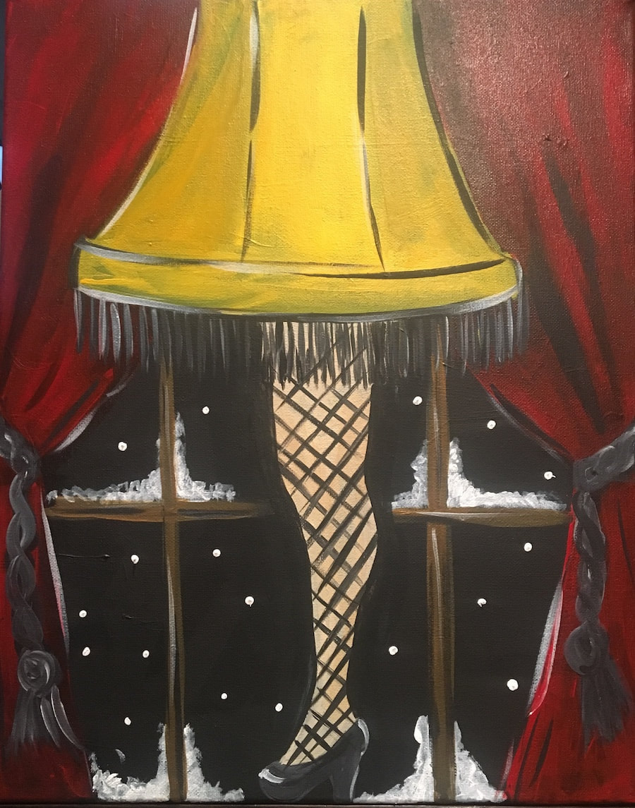Something-from-nothing-paint-party-leg-lamp-picture